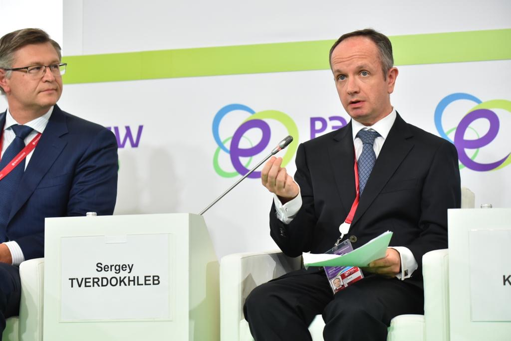 SUEK's Strategy and Corporate Policy Director speaks about state development strategy with low greenhouse gas emissions at the Russian Energy Week